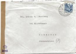150 - 59 - Enveloppe Envoyée De Suisse à Hannover - Censure - Zona Anglo-Américan