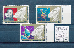BURUNDI 1981 ISSUE COB 876/878 MNH - 1980-89: Neufs