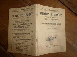 1936  PROBLEMES DE GEOMETRIE - 12-18 Ans