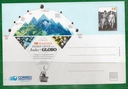 57  ARGENTINA 2015 Postal Del Correo-100 Años Del 1º Cruce De Los Andes En Globo - Nuevos