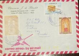 O) 1995 CIRCA - PERU. AMERICA UPAEP EARLY MAIL CART SC 1116, SAINT TORIBIO DE MOGROVEJO, CLEMENCIA J. DE BLONDET, TO CAN - Pérou