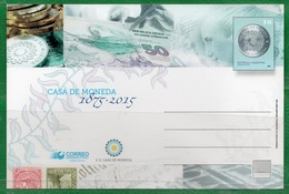 58 ARGENTINA 2016 Postal De Correo -Casa De La Moneda 1875-2015 - Nuevos
