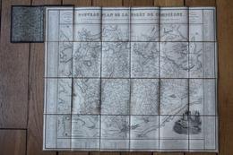 Carte 1839  Foret De Compiègne  Entoilée  Par RECOPE Chasseur à Cheval - Carte Geographique