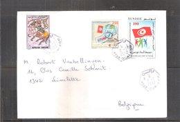 Lettre De Tunisie Vers La Belgique -  2012 (à Voir) - Tunisie (1956-...)