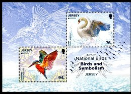 Europa 2019 - Jersey - National Birds - Oiseaux (swan, Kingfisher) (cygne, Martin-pêcheur) ** - 2019