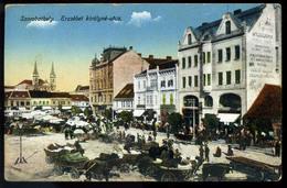 SZOMBATHELY 1929. Régi Képeslap, Piac  /  Vintage Pic. P.card , Market - Hungary