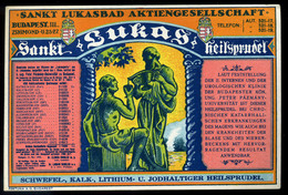 BUDAPEST 1915. Ca. Szent Lukács Gyógyfürdő, Reklám Cédula - Old Paper