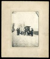 1910 Cca. Kerékcsere, Automobil, Régi Fotó Képméret : 10*7,5 Cm - Photographs