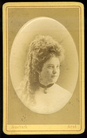 ARAD 1870-75. Auerbach Miksa : Ismeretlen Hölgy, Szép Visit Fotó  /  Miksa Auerbach: Unknown Lady Nice Visit Photo - Photographs