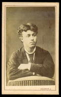 NAGYVÁRAD 1875. Ca. Lojanek : Ismeretlen Férfi Visit Fotó  /  Lojanek: Unknown Man Visit Photo - Photographs