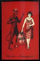 KRAMPUSZ Régi Képeslap,  1935  /  KRAMPUS Vintage Pic. P.card 1935 - New Year
