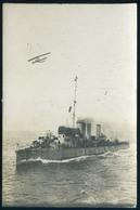 K.u.K. Haditengerészet, Hadihajó Pandur, Fotós Képeslap  /  K.u.K. NAVY Battleship Pandur Photo Vintage Pic. P.card - Warships