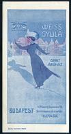 SZÁMOLÓ CÉDULA  Régi Reklám Grafika , Weiss Gyula Divatáruház  /  BAR TAB Vintage Adv. Graphics  Gyula Weiss Fashion Sto - Advertising