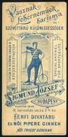 SZÁMOLÓ CÉDULA  Régi Reklám Grafika , Sigmund József  /  BAR TAB Vintage Adv. Graphics József Sigmund - Advertising
