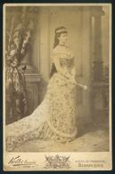 KOLLER Tanár Utódai : Erzsébet Királyné, Szép Cabinet Fotó 1890. Ca.  /  Queen Elisabeth Nice Vintage Cabinet Photo - Photographs