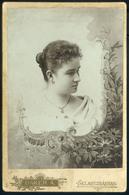 SELMECBÁNYA 1890. Ca.  Baker A. Ismeretlen Hölgy Cabinet Fotó  /  Unknown Lady Vintage Cabinet Photo - Photographs
