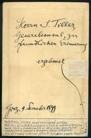 1899. Wilhelm Kienzl Portré , Aláírással és Sk. Kotta Sorral , Régi Fotó - Photographs