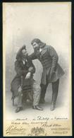 1898. Beck Vilmos 1868-1925. Operaénekes, Valent Vilma Színésznőnek Dedikált Cabinet Fotó!   /  Vilme Valent Opera Singe - Photographs