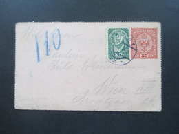 Österreich 1918 Rohrpost Kartenbrief RK 14 Mit Zusatzfrankatur Wien 110 - Entiers Postaux