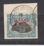 COB 159 Oblitération Centrale Ste-Adresse - 1918 Rotes Kreuz