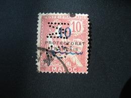 Perforé Perfin Maroc , Perforation : SM 23  à Voir - Marokko (1891-1956)