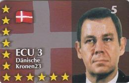 Denmark, P 329, Ecu - Denmark, Statesman, Politician, Flag, Mint, Only 700 Issued, 2 Scans.  Please Read - Dänemark