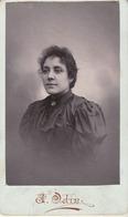 Photo. C.D.V. : Portrait De Femme : Photographie - J. ODIN - Rive De Gier - Loire - - Alte (vor 1900)