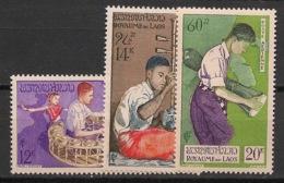 Laos - 1957 - Poste Aérienne PA N°Yv. 24 à 26 - Série Complète Musiciens - Neuf Luxe ** / MNH / Postfrisch - Musik