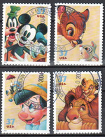 United States 2004 Disney Characters - Sc # 3865-68 - Mi 3842-45 -  Used - Etats-Unis