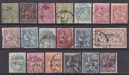 CHINE  (  Française )  :  LOT  De  19  TIMBRES  OBLITERES  . - Chine (1894-1922)