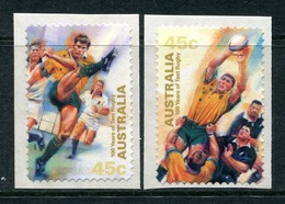 Australia 1999 Centenary Of Australian Test Rugby - Self-adhesive - Set MNH (SG 1886-1887) - Ungebraucht