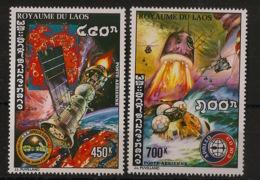 Laos - 1975 - Poste Aérienne PA N°Yv. 122 à 123 - Coopération Spatiale - Neuf Luxe ** / MNH / Postfrisch - Asien