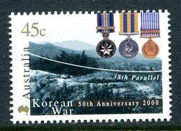 Australia 2000 50th Anniversary Of Korean War MNH (SG 1971) - Ungebraucht