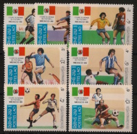Laos - 1985 - N°Yv. 617 à 623 - Football World Cup Mexico - Neuf Luxe ** / MNH / Postfrisch - Laos