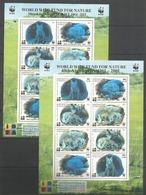 2x KYRGYZSTAN - MNH - Animals - Wild Animals - WWF - Silver - Stamps