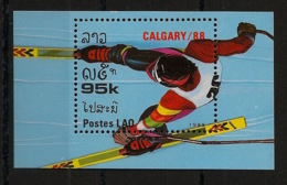 Laos - 1988 - Bloc Feuillet BF N°Yv. 98 - Olympics / Calgary - Neuf Luxe ** / MNH / Postfrisch - Laos