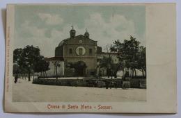 CPA Précurseur Rare Italie Chiesa Di Santa Maria Sassari Sardaigne Sardegna - Sassari