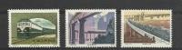 Chine China Cina 1979 Yvert 2278/2280 ** Train Treno Treni Ferrocaril Viaduc Bridge  Ref T36 - Neufs