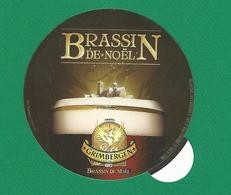 BRASSIN DE NOËL GRIMBERGEN UNE FACE  BRILLANT L AUTRE FACE PLASTIQUE COLLER NEUF - Beer Mats