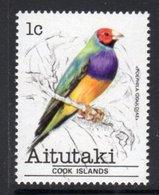 AITUTAKI - 1981 1c FINCH BIRD STAMP FINE MNH ** SG 317 - Aitutaki