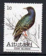 AITUTAKI - 1981 1c STARLING BIRD STAMP FINE MNH ** SG 318 - Aitutaki
