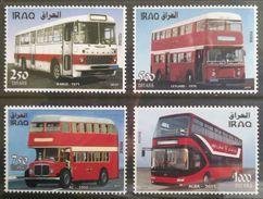 Iraq NEW 2017 MNH Set - Iraqi Busses & Trams - Transportation - 2nd Issue, Sky Blue Very Clear - Iraq