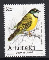 AITUTAKI - 1981 2c WHISTLER BIRD STAMP FINE MNH ** SG 319 - Aitutaki