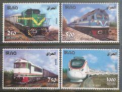 Iraq NEW 2017 MNH Set - Trains Locomotives CKD Railway - Transportation - 2nd Issue, Sky Blue Very Clear - Iraq