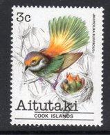 AITUTAKI - 1981 3c FANTAIL BIRD STAMP FINE MNH ** SG 321 - Aitutaki