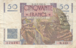Billet 50 F Le Verrier Du 19-5-1949 FAY 20.12 Alph. R.133 - 1871-1952 Circulated During XXth