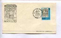 GUAMAN POMA DE AYALA, CALENDARIO INCAICO, CALENDRIER INCAIQUE. ENVELOPE PERU 1973 FDC DIA DE EMISION-LILHU - Pérou