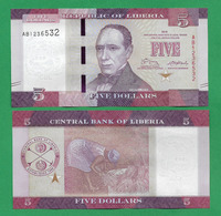 LIBERIA - 5 DOLLARS - 2016 - UNC - Liberia