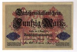 Darlehenskassenschein 50 Mark 1914 Seriennummer: J-5716433    926927 - [ 2] 1871-1918 : Duitse Rijk