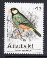 AITUTAKI - 1981 4c SPARROW BIRD STAMP FINE MNH ** SG 323 - Aitutaki
